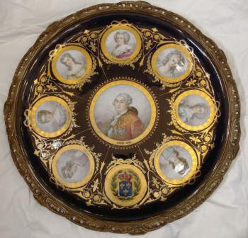 Hanging plate Sevres