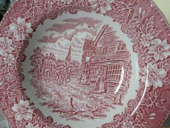 Plate - white porcelain - Staffordshire England - 1960